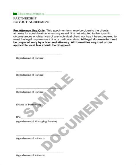 partnership buyout agreement template 9 sle partnership agreement forms free sle