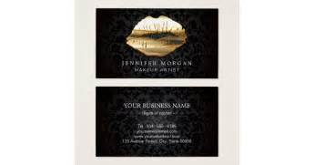 make up artist business cards eye catching 3d black gold makeup artist business