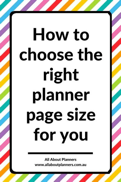 Choosing The Right For You by Finding Planner Peace How To Choose The Right Planner
