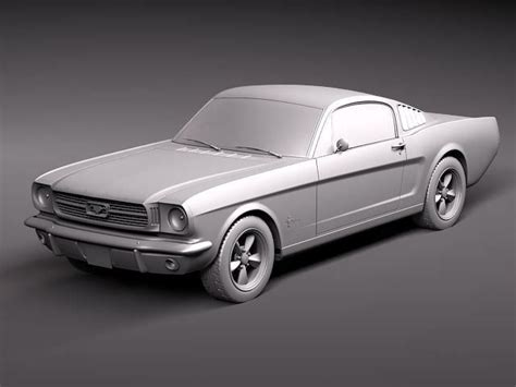1960s mustang fastback ford mustang fastback 1960s 3d model max 3ds cgtrader