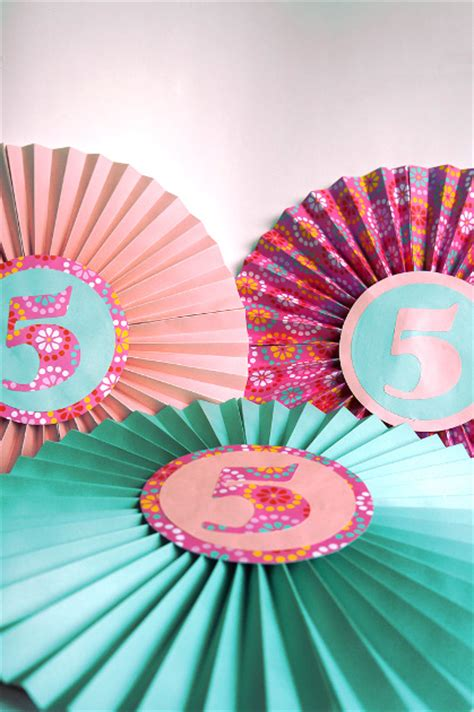 paper fan circle decorations paper fan birthday decor think crafts by createforless