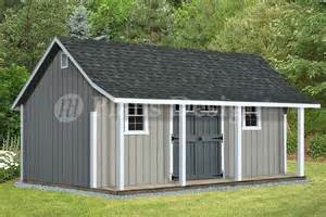 Shed With Porch Plans Free by 14 X 20 Cape Code Storage Shed With Porch Plans P81420