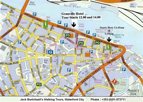 map of waterford city tour by burtchaell award winning historic walking