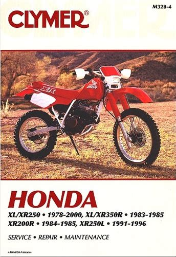 Honda Xl 250 350 Xr 200 250 350 Manual Service