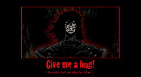 Give Me A Hug Meme - hellsing abridged favourites by freakyanimechick77 on