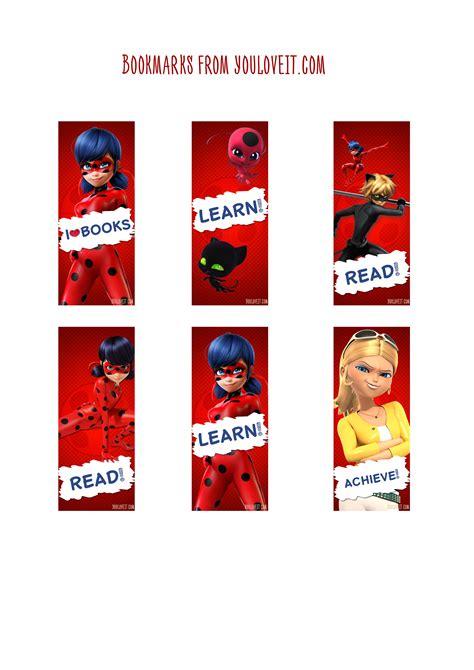 printable ladybug bookmarks miraculous ladybug bookmarks youloveit com