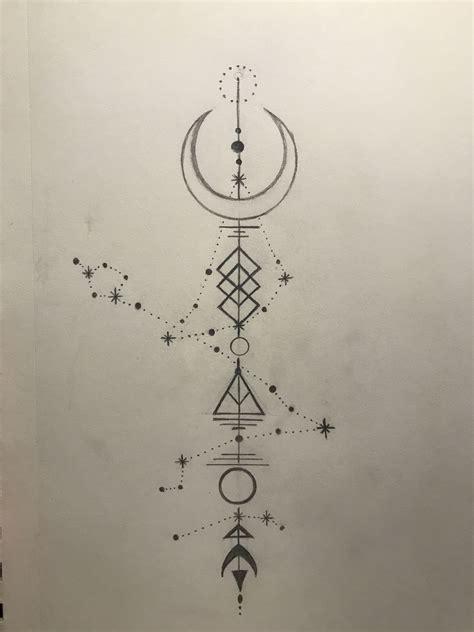 pisces constellation tattoo pisces capricorn and gemini concept tatoo ideas
