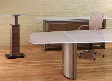 Modern Handmade Furniture - crescent modern custom boardroom furniture stoneline designs