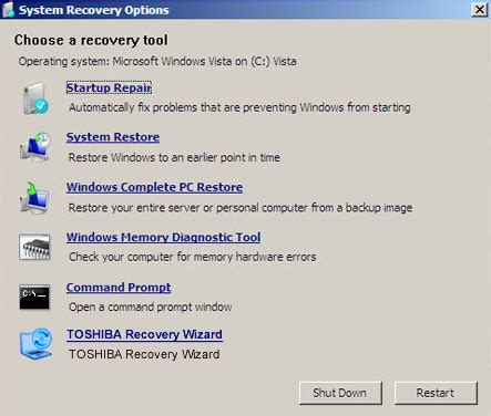 toshiba recovery disk guide for windows xp vista 7 8