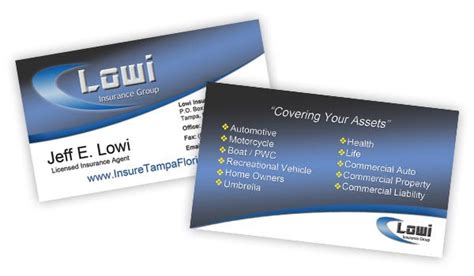 professional business card template for insurance broker with photo insurance broker website templates auto insurance card