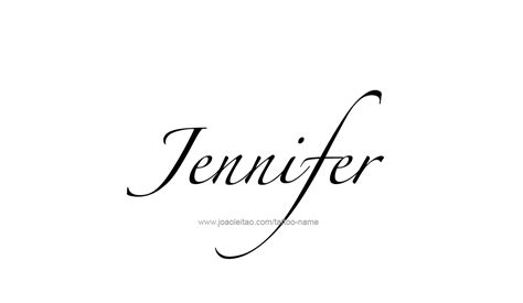 jennifer name tattoo designs design name 15 png