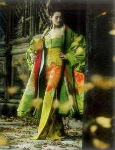 Vogue China Japan Galliano For Diors Green Coat by 1000 Ideas About Kimono On Kimonos Japanese