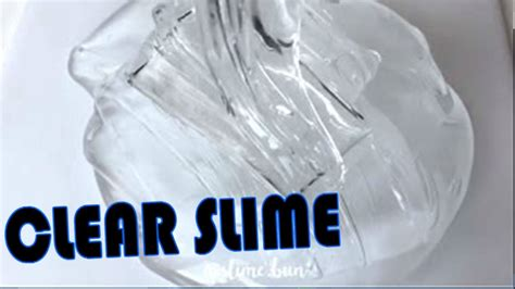Slime Clear Slime 2 ingredient slime how to make clear slime