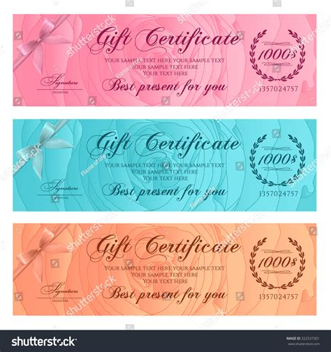 floral gift card template gift certificate voucher coupon reward or gift card