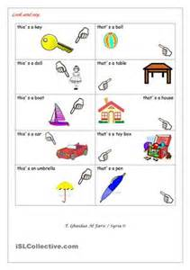 Free esl this and that worksheets