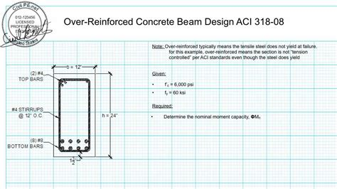 over reinforced section concrete beam design over reinforced rectangular beam