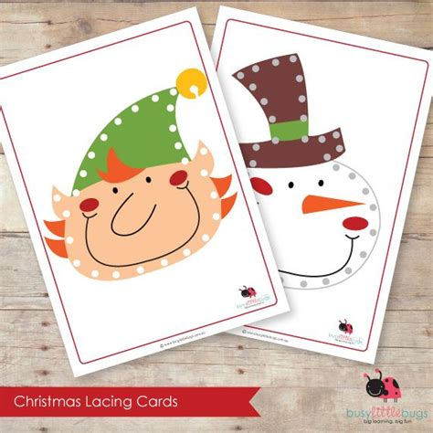 free printable christmas lacing cards 11 best lacing cards images on pinterest lacing cards