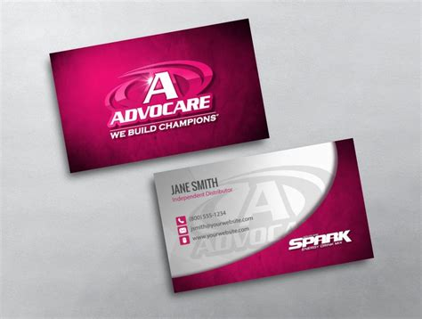 advocare business cards template advocare business card 39