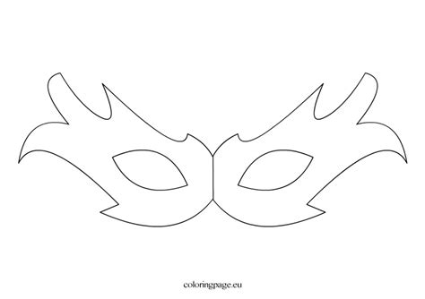 masquerade template free coloring pages
