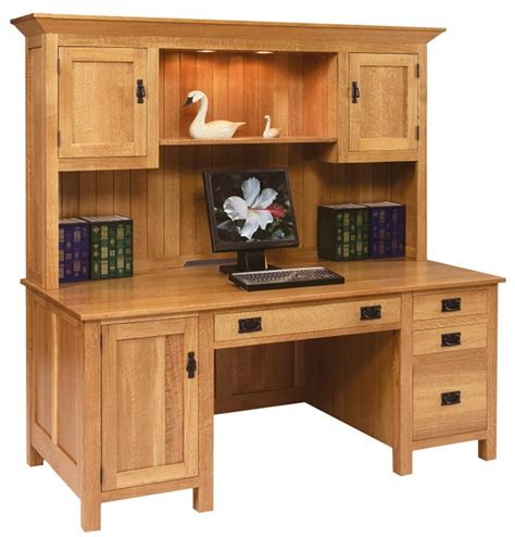 Large Computer Desk With Hutch Amish Mission Computer Mission Style Computer Desk With Hutch