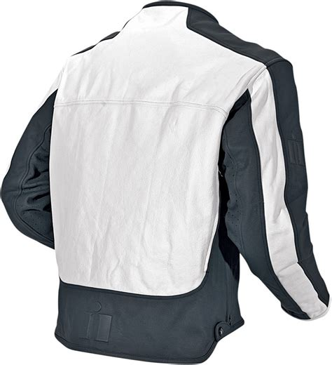 white motorbike jacket icon motorhead leather motorcycle jacket white