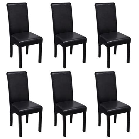 esszimmerstuhl set esszimmerstuhl kunstleder schwarz 6er set g 252 nstig kaufen