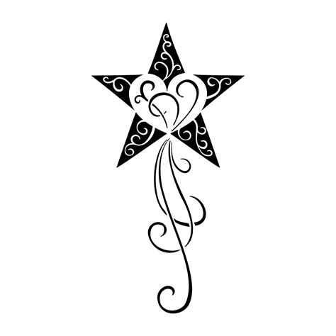 tribal tattoos with stars tribal shooting drawing www imgkid the image