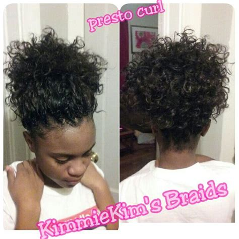 Crochet Hair Styles Ponytail by Crochet Freetress Presto Curl In A Simple Ponytail
