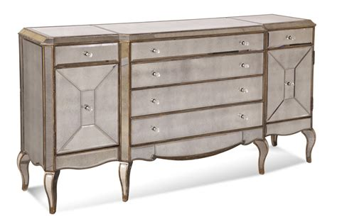 Antique Mirrored Sideboard collette sideboard antique mirror gold finish d1267 576 decor south