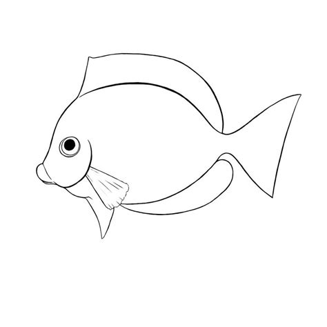 pics for gt realistic tropical fish coloring pages