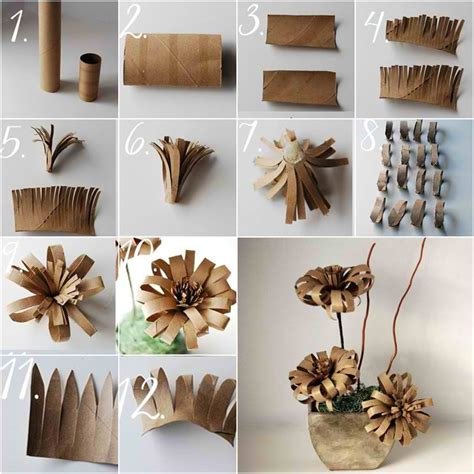 Make Toilet Paper Flowers - find utility in 21 creative toilet paper roll crafts