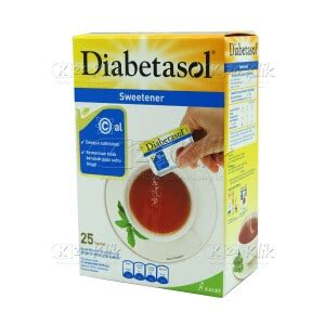 Diabetasol Sweetener 50 Sachet 1gr jual beli diabetasol no calorie swetener 25gr k24klik
