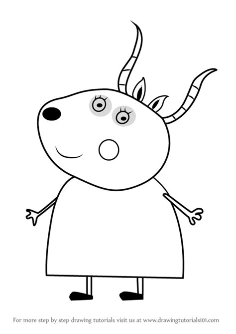 learn how to draw madame gazelle from peppa pig peppa pig