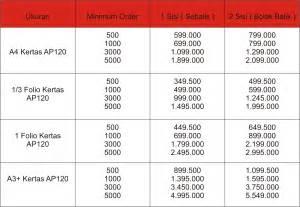 desain brosur harga daftar harga sejati print percetakan berkualitas cetak