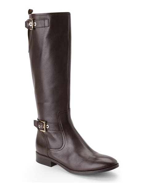 nine west boots nine west brown bring it boots in brown lyst