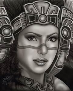 aztec princess paper print mi familia tattoo studio