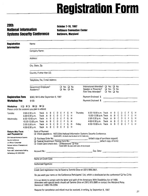 registration card template free for recalls registration form templates find word templates