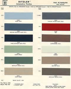 mopar colors 1963 mopar paint codes