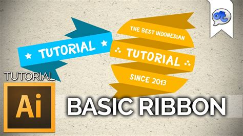 typography ribbon tutorial adobe illustrator tutorial 5 basic ribbon bahasa