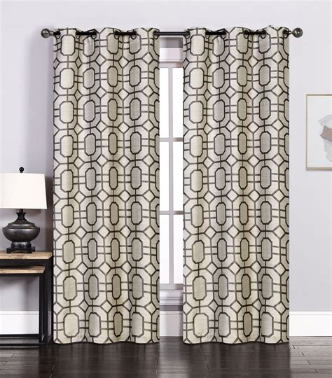 charcoal curtain panels pair of maritza jacquard ivory charcoal window curtain