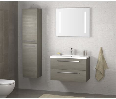 Accessories In Bathroom by Pace 500 Wall Mounted Unit With Drawers And Basin Grey