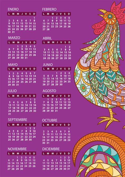 Calendario 2018 Español Calendarios 2017 Para Imprimir Gratis 2017 Calendar