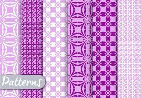 purple geometric pattern set   vectors