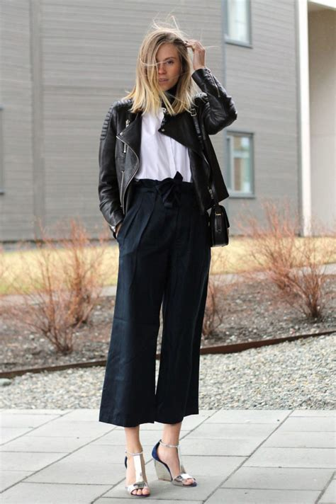 43618 Navy Vogue Cullotes how to wear culottes palazzo gauchos