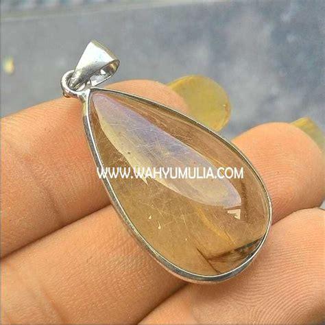 Liontin Berlian 040 Ct Ring Emas Kuning batu liontin kecubung rambut emas kode 217 wahyu mulia