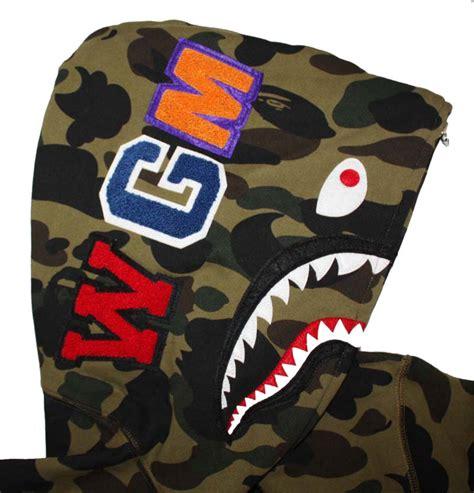 Bape Hoodie Shark Green Camo green camo zip bape shark hoodie dopestudent