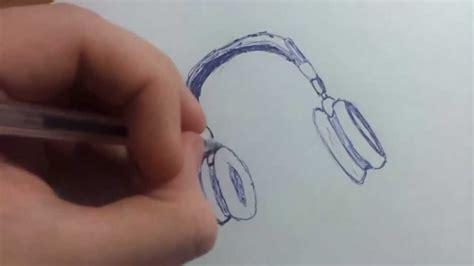 imagenes a lapiz musica como dibujar cascos de musica youtube