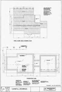 roof deck plan foundation architectural drawing packages of post beam homes by
