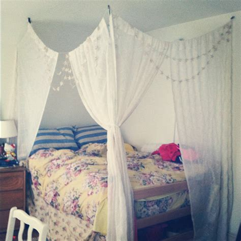 make a bed canopy 20 diy dorm canopy beds home design and interior