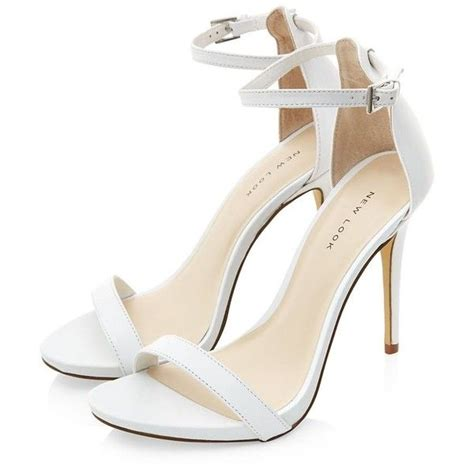 white high heeled sandals white high heels with ankle qu heel